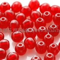 捷克圓形珠4mm泰國紅寶石紅-50個