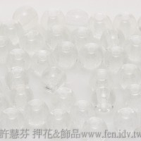 捷克圓形珠4mm晶亮水晶色-50個