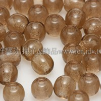 捷克圓形珠4mm茶水晶色-50個