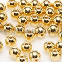 捷克圓形珠4mm金色-25個