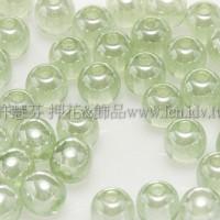 捷克圓形珠4mm珠光翠橄欖綠-50個