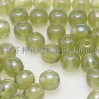 捷克圓形珠4mm珠光葉綠色