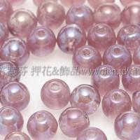 捷克圓形珠4mm珠光三色堇紫