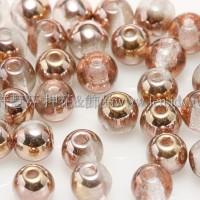 捷克圓形珠4mm金彩玫瑰金光雙面色-50個