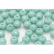 捷克圓形珠4mm松玉石綠-50個