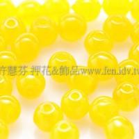 捷克圓形珠4mm金黃色-50個