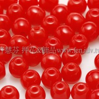 捷克圓形珠4mm大紅-50個