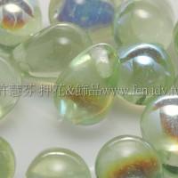 6X8mm捷克水滴形珠-珠光翠橄欖綠-20個
