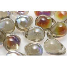 6X8mm捷克水滴形珠-灰鑽石水晶珠光色 -20個