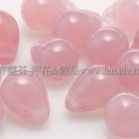 6X8mm捷克水滴形珠-蛋白玫瑰粉紅-20個