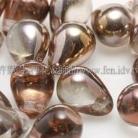 6X8mm捷克水滴形珠-金色水晶珠光色 -20個