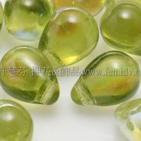 6X8mm捷克水滴形珠-炫光明綠色-20個