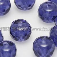 4X6mm捷克車輪珠-紫晶色-1包-10個