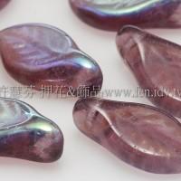 5X10mm捷克楔形葉珠-炫彩三色堇紫-20個