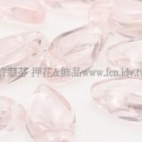 5x10mm捷克紫薇葉形珠-透明水蜜桃粉紅-20個