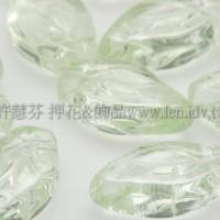 5x10mm捷克紫薇葉形珠-透明翠綠-20個