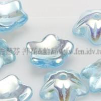 捷克花形小喇叭珠10mm-珠光海藍色-10個