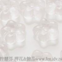 捷克五瓣花朵珠7mm玫瑰淡粉色-20個