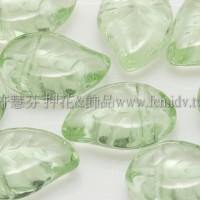 9x12mm捷克菩提葉形珠-翠橄欖綠-20個