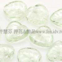 10X10mm捷克愛心葉形珠-翠橄欖綠-20個