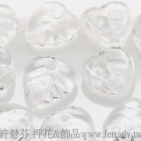 10X10mm捷克愛心葉形珠-透明水晶色-20個