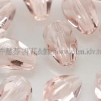 捷克水滴形珠-切角-5x7mm玫瑰淡粉色-20個