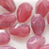 捷克水滴形珠-切角-5x7mm蛋白玫瑰粉紅-20個