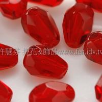 捷克水滴形珠-切角-5x7mm泰國紅寶石紅-20個