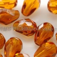 捷克水滴形珠-切角-5x7mm陽橙色-20個