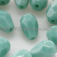 捷克水滴形珠-切角-5x7mm綠松玉石綠-20個
