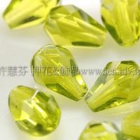 捷克水滴形珠-切角-5x7mm透明草綠色-20個