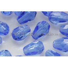 捷克水滴形珠-切角-5x7mm亮天藍色-20個