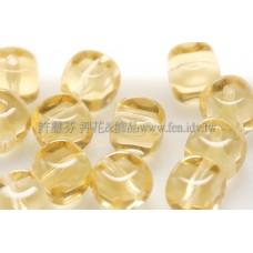 捷克方形珠5mm淡黃玉色-20個