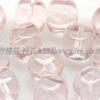 捷克方形珠5mm玫瑰淺粉色-20個
