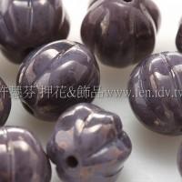 捷克南瓜珠8mm暗紫芋色-10個