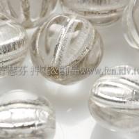 捷克南瓜珠8mm銀線紋-水晶色-10個
