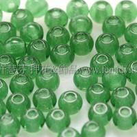 捷克圓形珠3mm祖母綠-50個