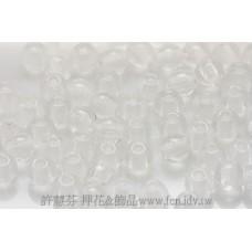 捷克圓形珠3mm晶亮水晶色-50個