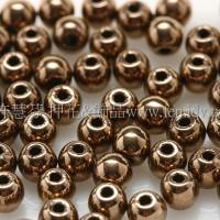 捷克圓形珠3mm茶色金珠-50個