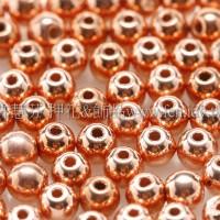 捷克圓形珠3mm紅銅色-50個