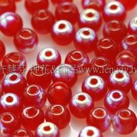 捷克圓形珠3mm炫光泰國紅寶石紅-50個
