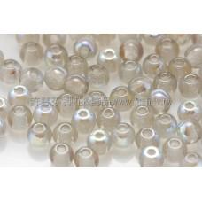 捷克圓形珠3mm灰鑽石水晶珠光色 -50個