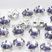 捷克四孔爪4mm紫羅青藍鑽