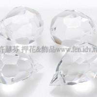 6*10mm捷克角面水滴珠透明水晶色