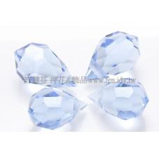 6*10mm捷克角面水滴珠_嬰兒藍