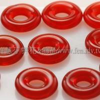 捷克甜甜圈珠2.5*8mm豔紅色