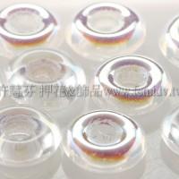 捷克甜甜圈珠2.5*8mm透明水晶色AB