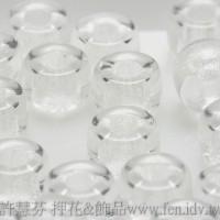 6mm捷克花輪圓形_晶亮透明色