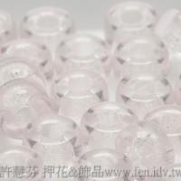6mm捷克花輪圓形_水蜜桃粉紅