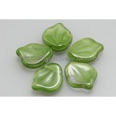 12*15牡丹葉珠-黃綠色